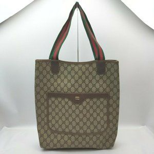 """Gucci Supreme GG Monogram Large Web Shopping Tote"